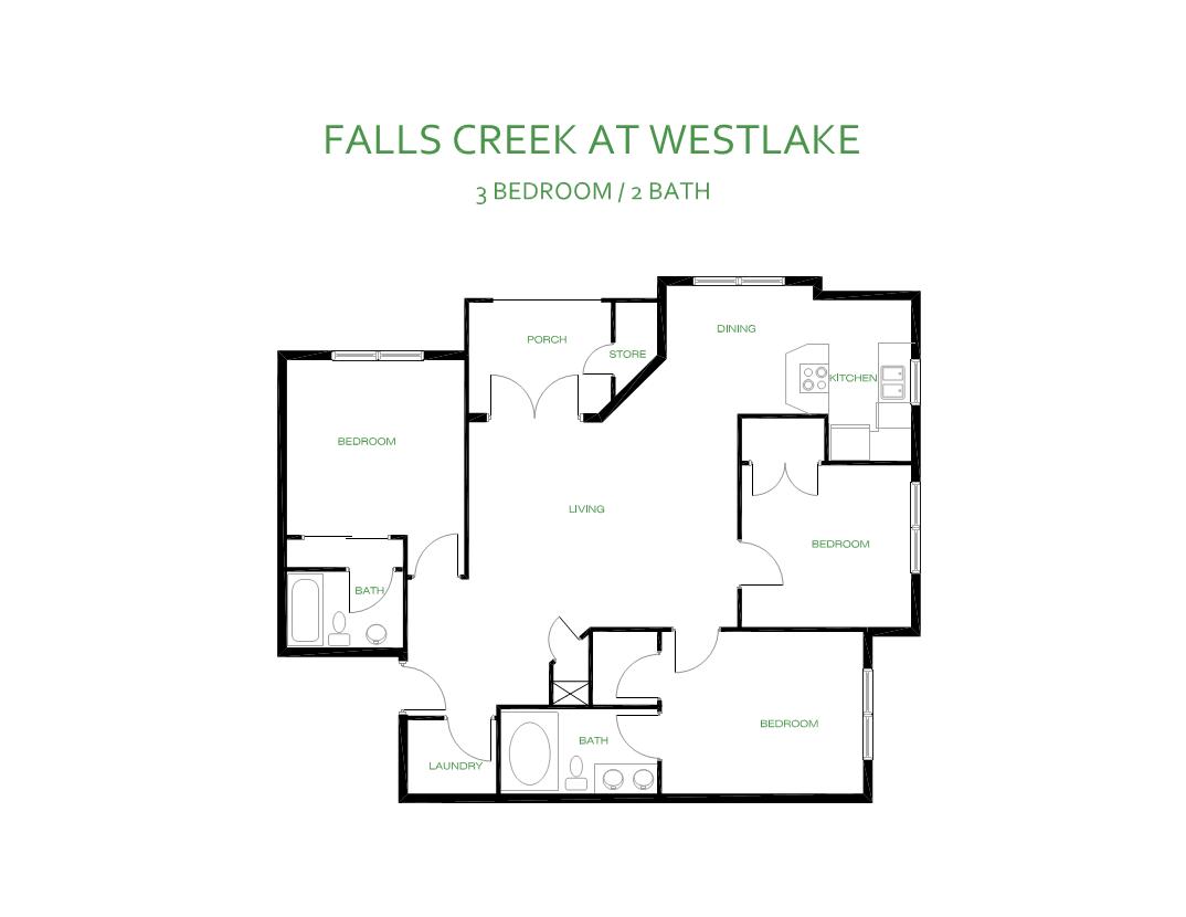 Falls Creek Apartments 3 Br 2 Ba Simpson Amp Simpson